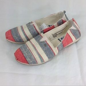 Mad Love Lydia Canvas Stripe Flat Shoes